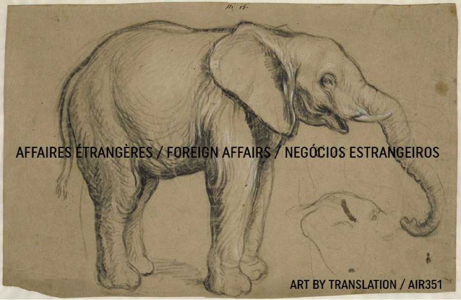 Drawing by Le Brun of the elephant from Congo offered by Alphonse VI, King of Portugal to Louis XIV, King of France in 1664